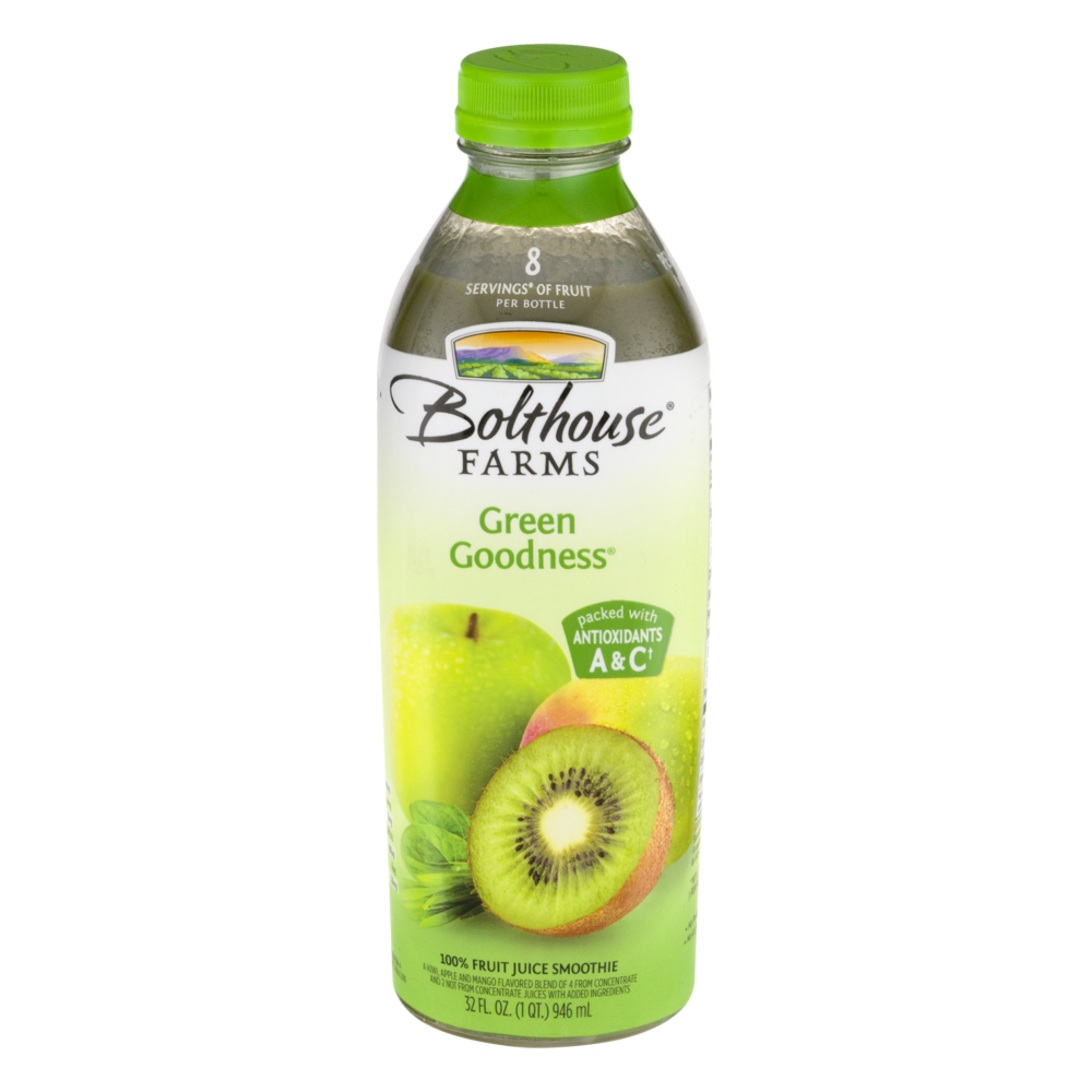 Bolthouse Farms Green Goodness 100% Fruit Juice Smoothie, 32 fl oz